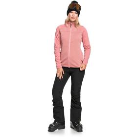 Roxy Limelight Zip Through Fleece Top Women, dusty rose